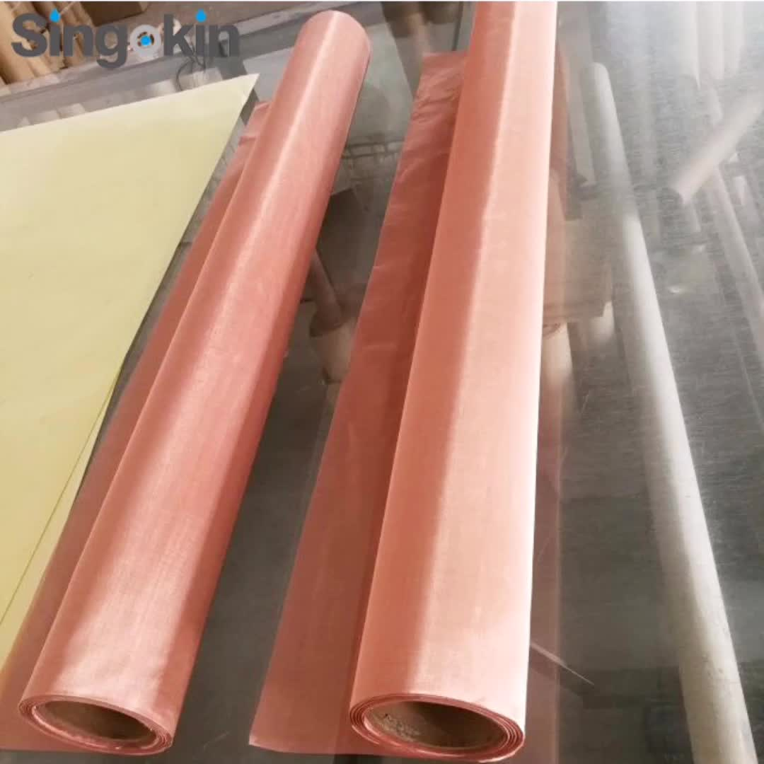 Switzerland 80 mesh 0.15mm 200 mesh faraday cage shielding red copper filter wire mesh net cloth roll