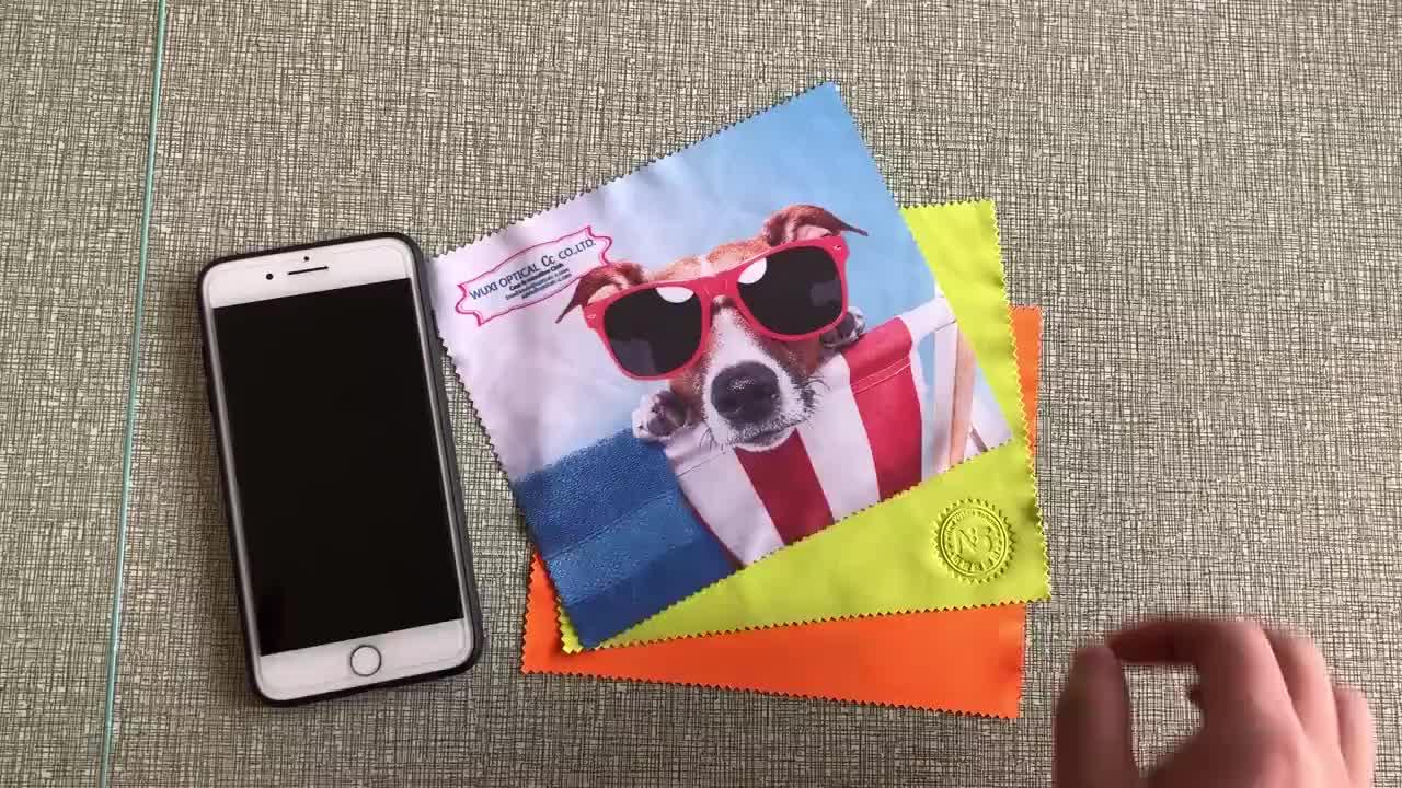 High quality printed custom microfiber eyeglasses lens glasses cloth cleaning