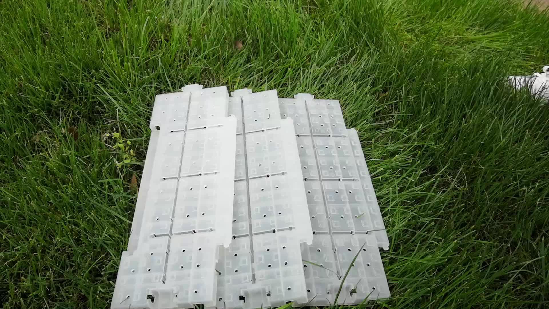 Revestimento plástico da barraca do partido da proteção do relvado dos PP da multi finalidade portátil