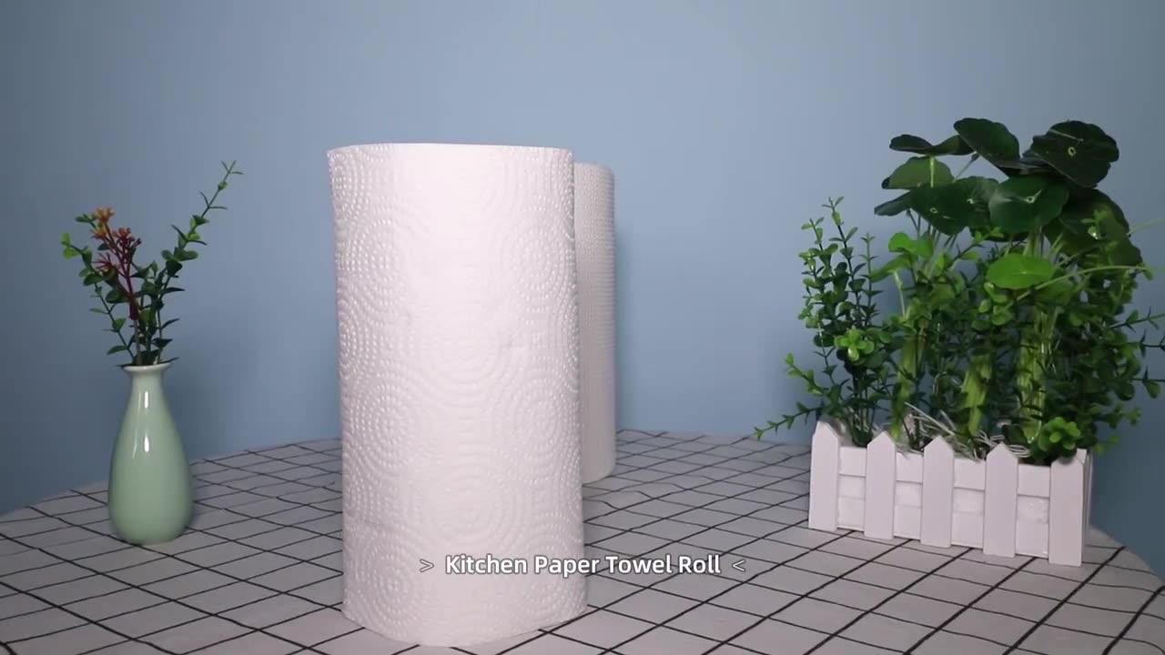 A granel barato 2 ply impresa personalizada de papel desechable cocina tejido toalla