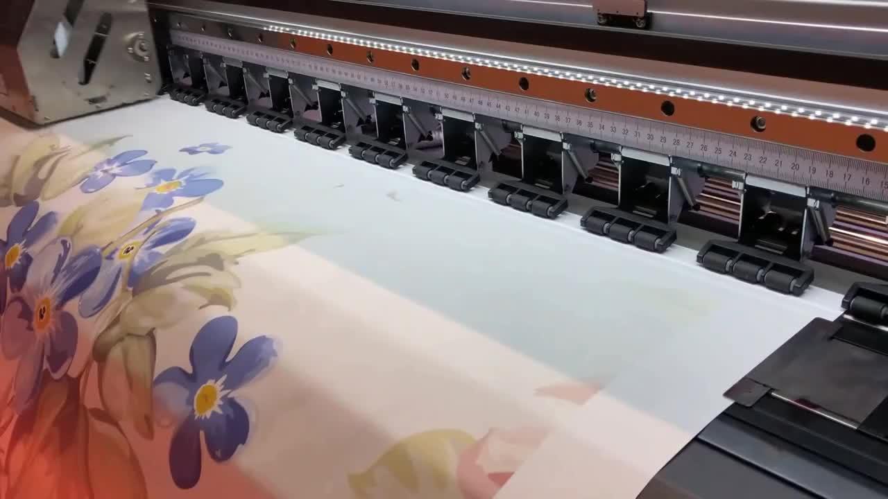 Çin ağır 1.8m 4720 i3200 kafaları boya sublime mürekkep püskürtmeli fotoğraf yazıcı en iyi yazıcı için sublime mürekkep