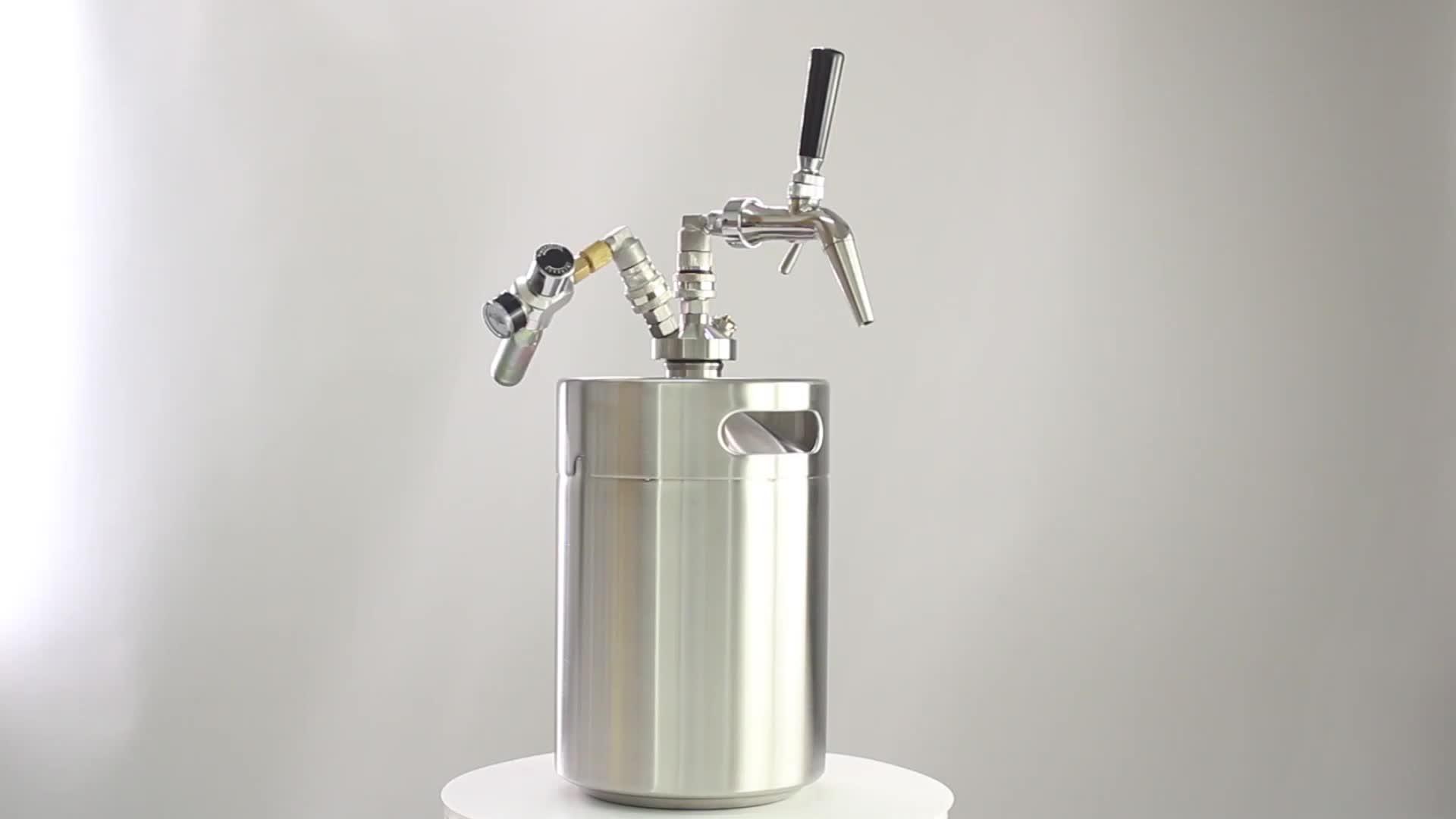 Groothandel gratis sample CO2 biervat rvs ball lock post