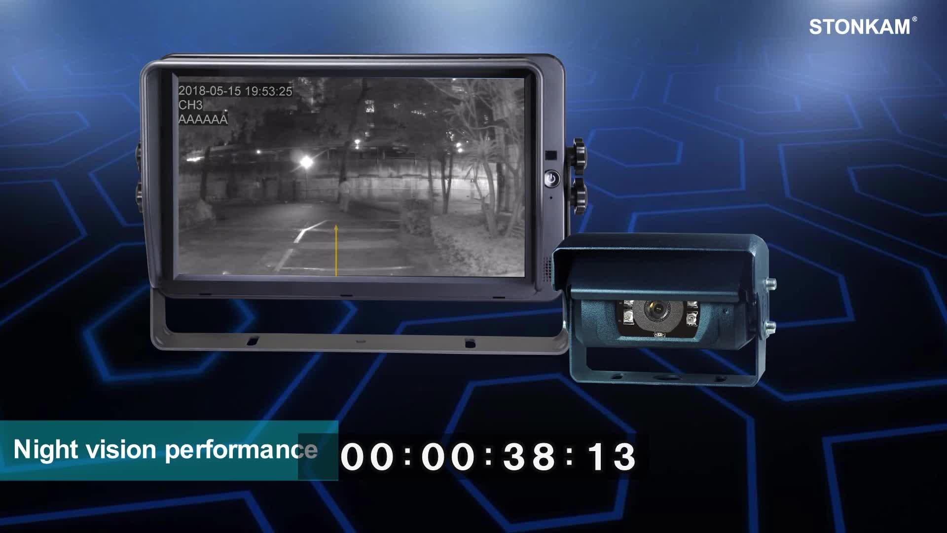 防水 720 1080p HD 車のバックアップカメラシャッター