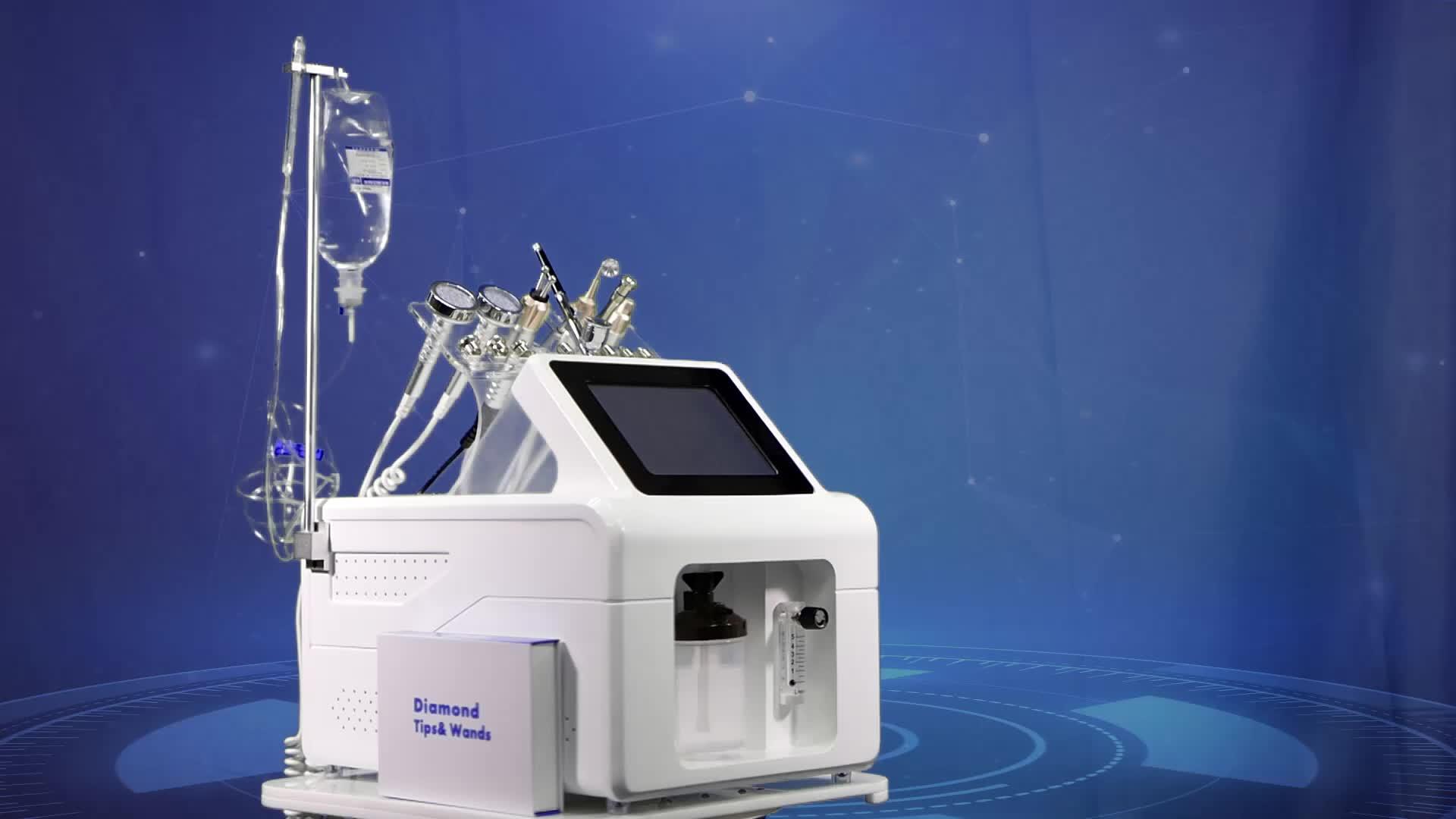 Vendita calda idra di ossigeno microdermoabrasione macchina di ringiovanimento della pelle del viso/terapia di ossigeno attrezzature