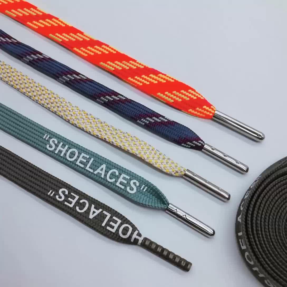 Groothandel Bulk Goedkope Platte Gekleurde Maat Veters Metalen Tip Veters