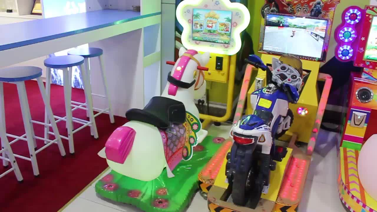 Coin operated amusement park kiddie rides china electric video kiddie ride car