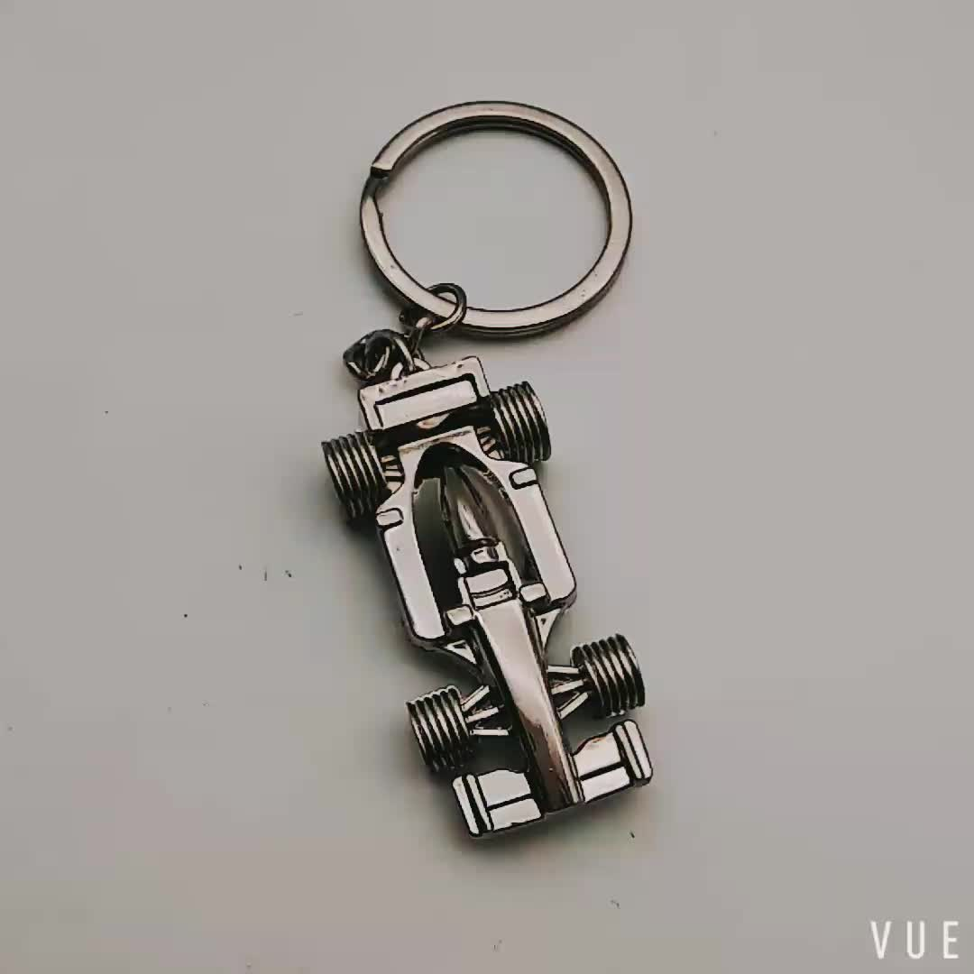 Wholesale Car Keychain F1 Racing Keychain Stereo Metal Keychain Promotion gift