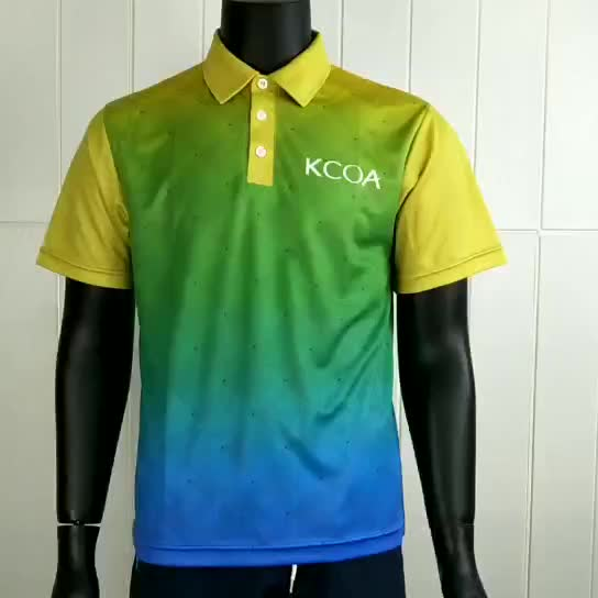 Custom new design dye sublimated men quick dry polo shirt, cooldry polo t shirt