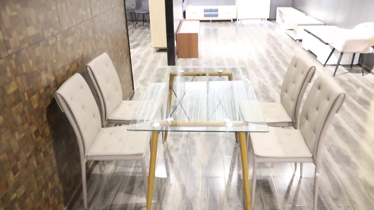 Dining room furniture modern fashion dining table combination solid wood rectangular dining table chair quality guarantee