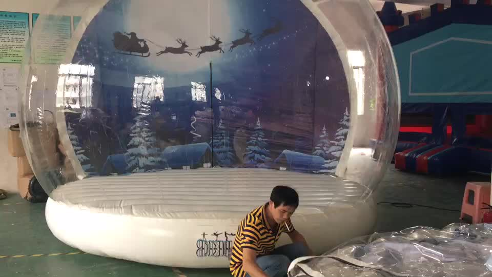giant human sized inflatable snow globe christmas promotional gift