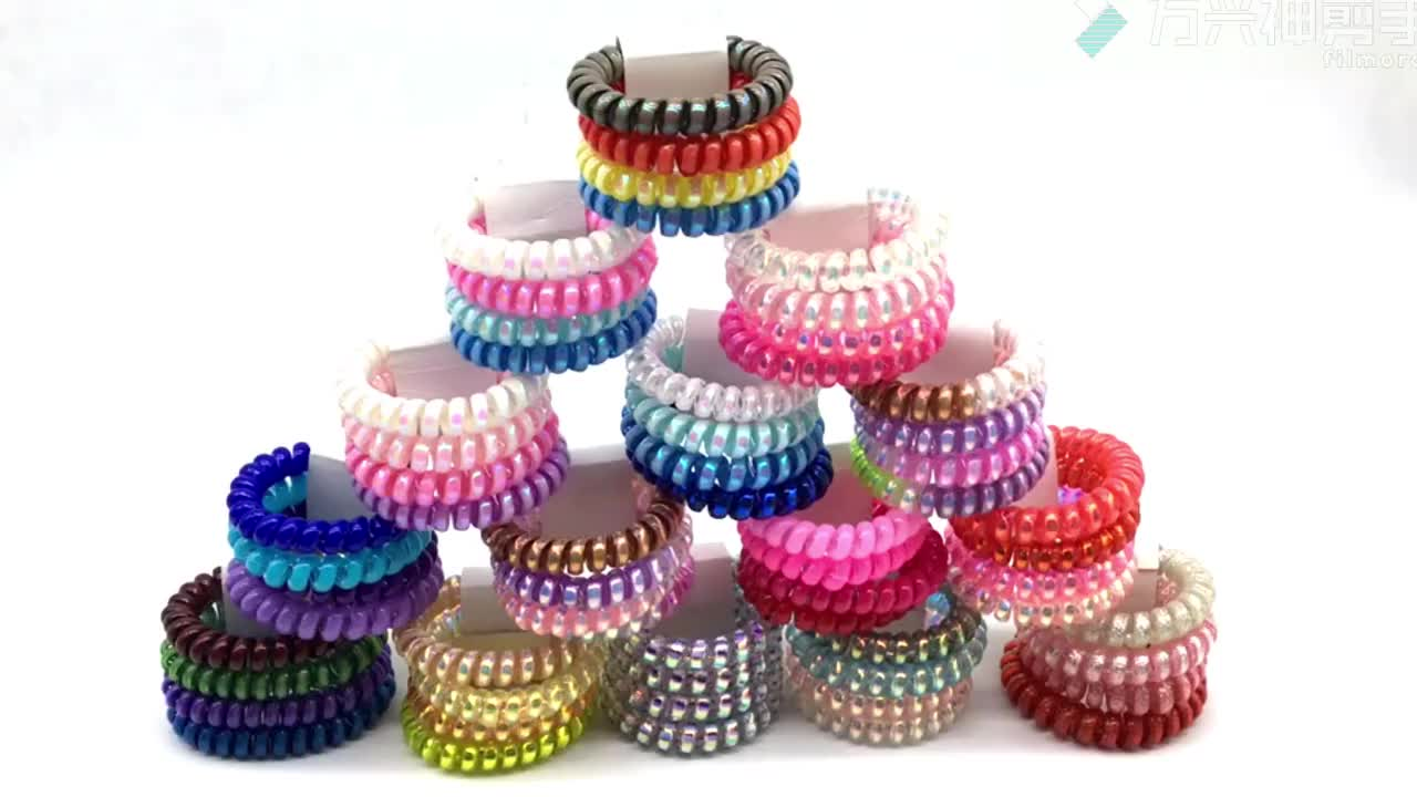 wholesale Fashion Elastic Gum Telephone Wire Hair Bands
