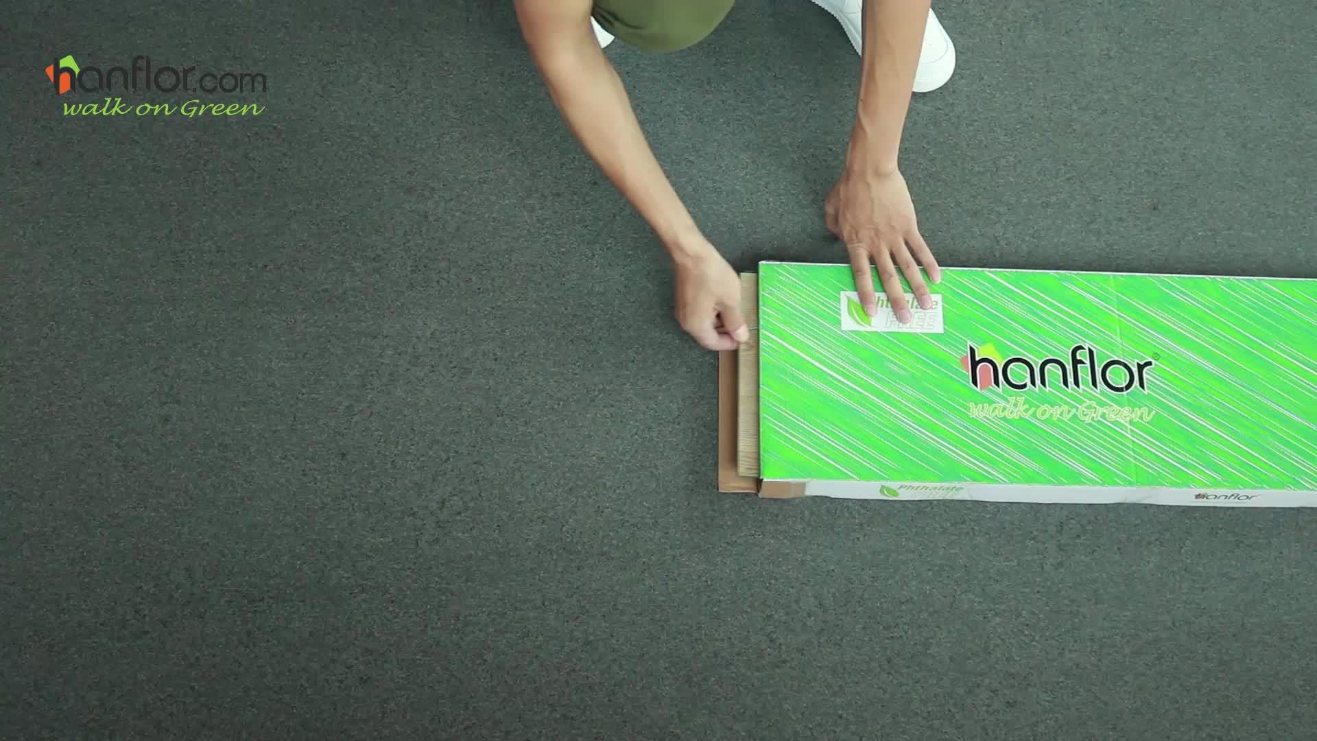 VOC free click lock 100% pvc vinyl plank flooring click vinyl floor