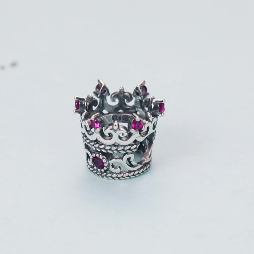 Queen's Crown Charm Bead 925 Sterling Silver Bead Charm For Girls