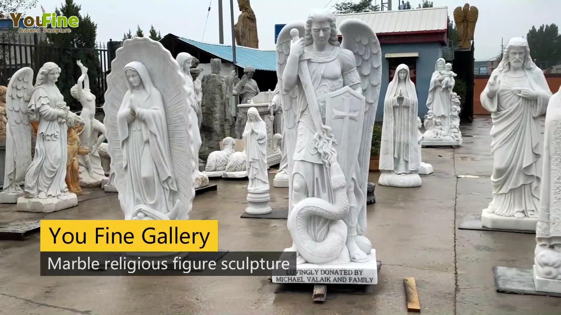 Leben Größe Marmor Outdoor Religion Statue Saint Joseph und Baby Jesus Statue für Verkauf