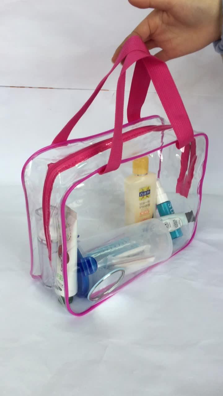 저렴한 투명 가방 방수 명확한 PVC 화장품 가방 여행