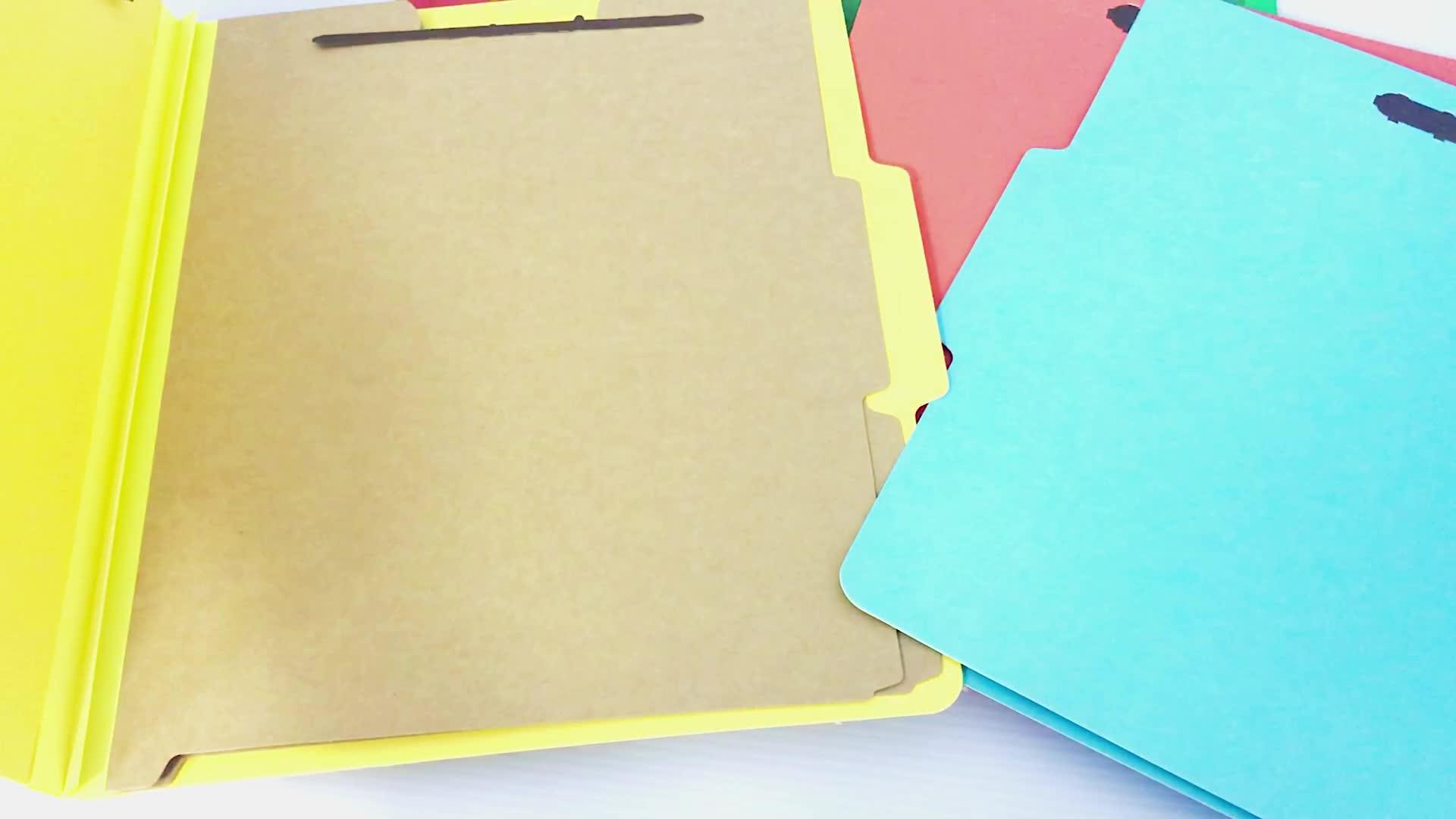 A4  PVC landscape Hard Cover Display metal Cilpboard 2-hole clip File Folder