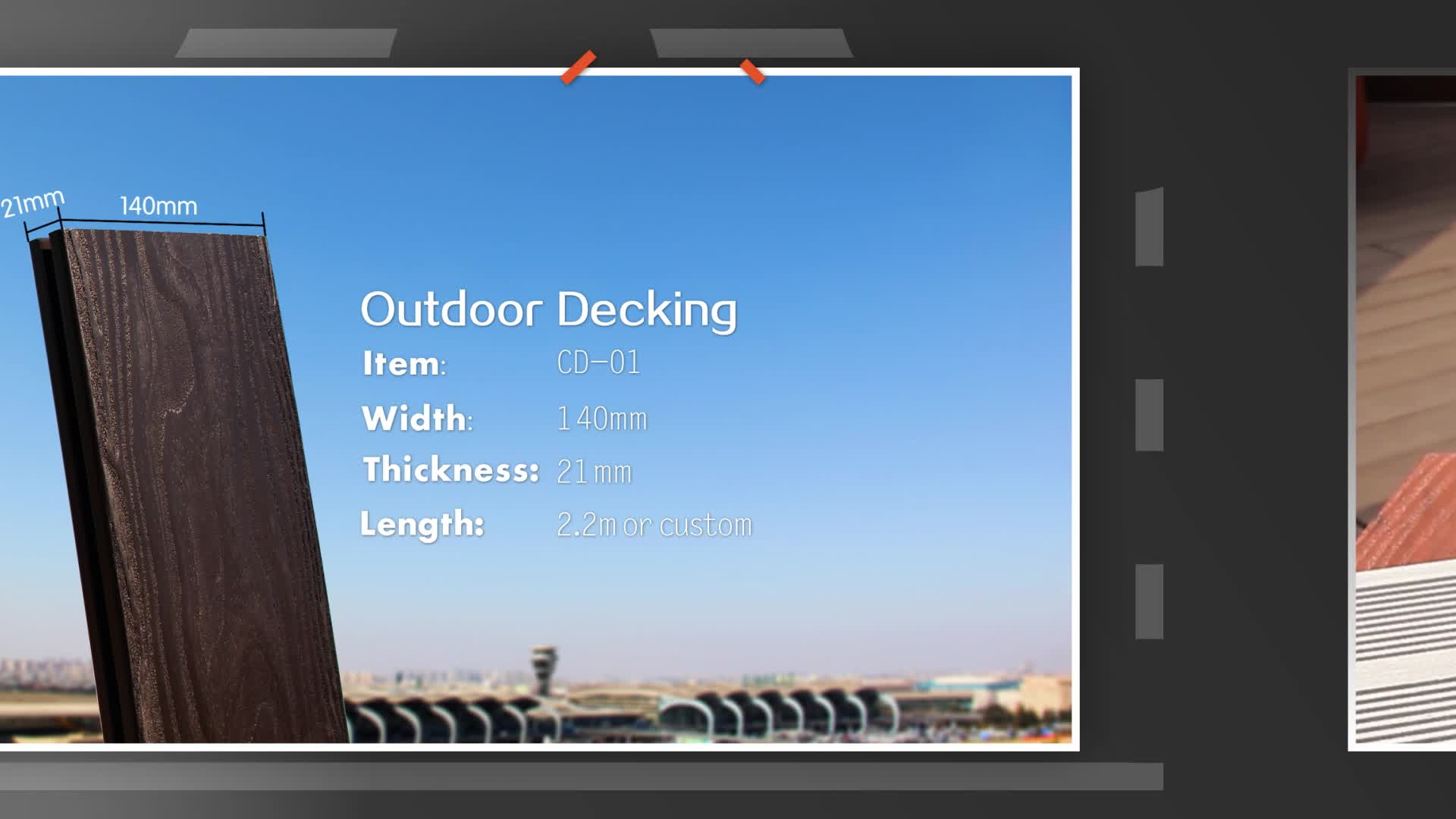 Clearance Outdoor Red Bamboo Composite Decking by Cali Bamboo