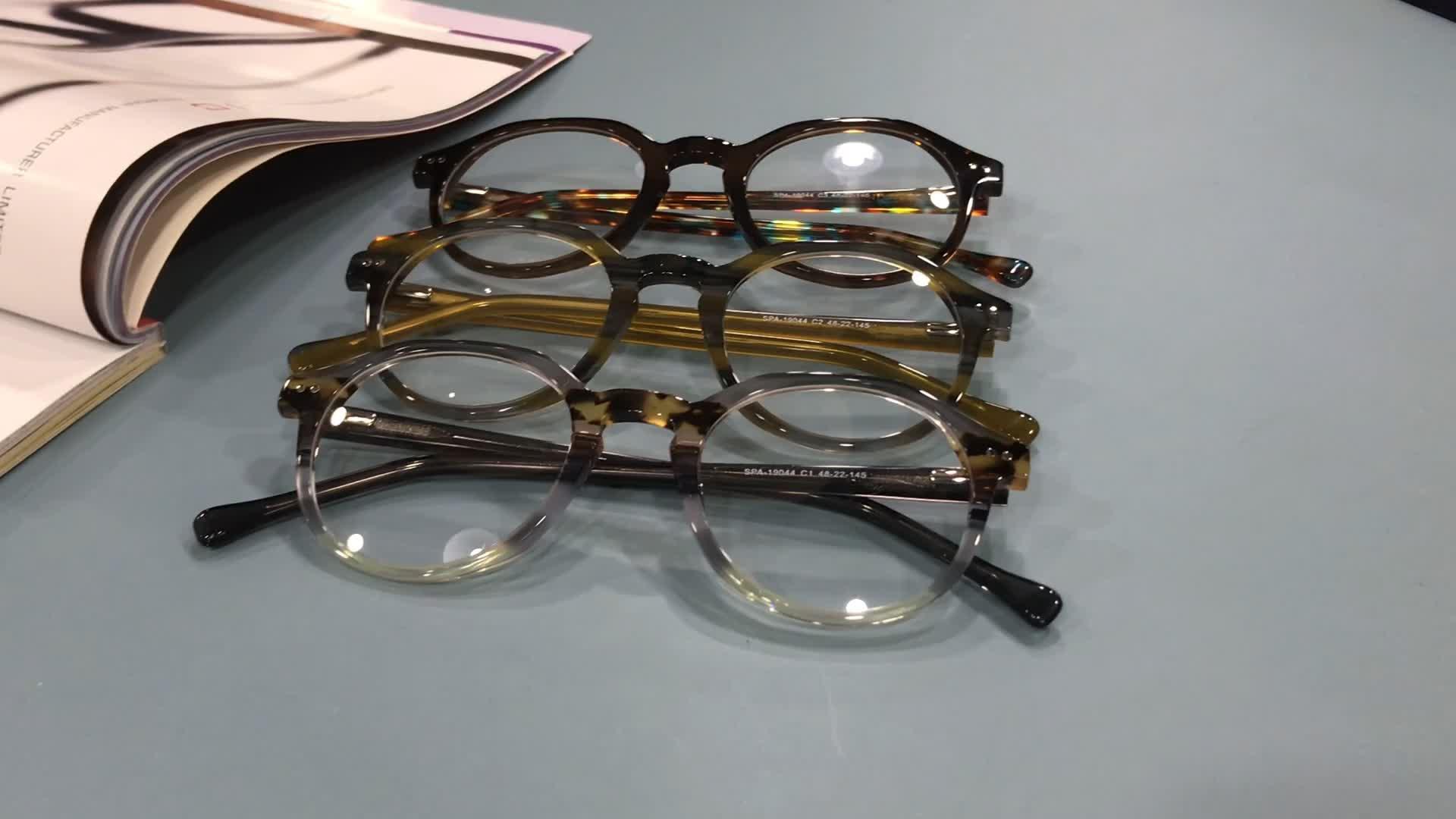 2020 חדש מותאם אישית קלאסי באיכות משקפיים אצטט משקפיים אופטי מסגרות