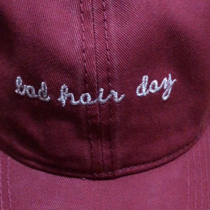 Bad Hair Day Borduurwerk Gewassen Baseball Man Vrouw Cap Klassieke Baseball Outdoor Hoed 6 Panel Man Hoed