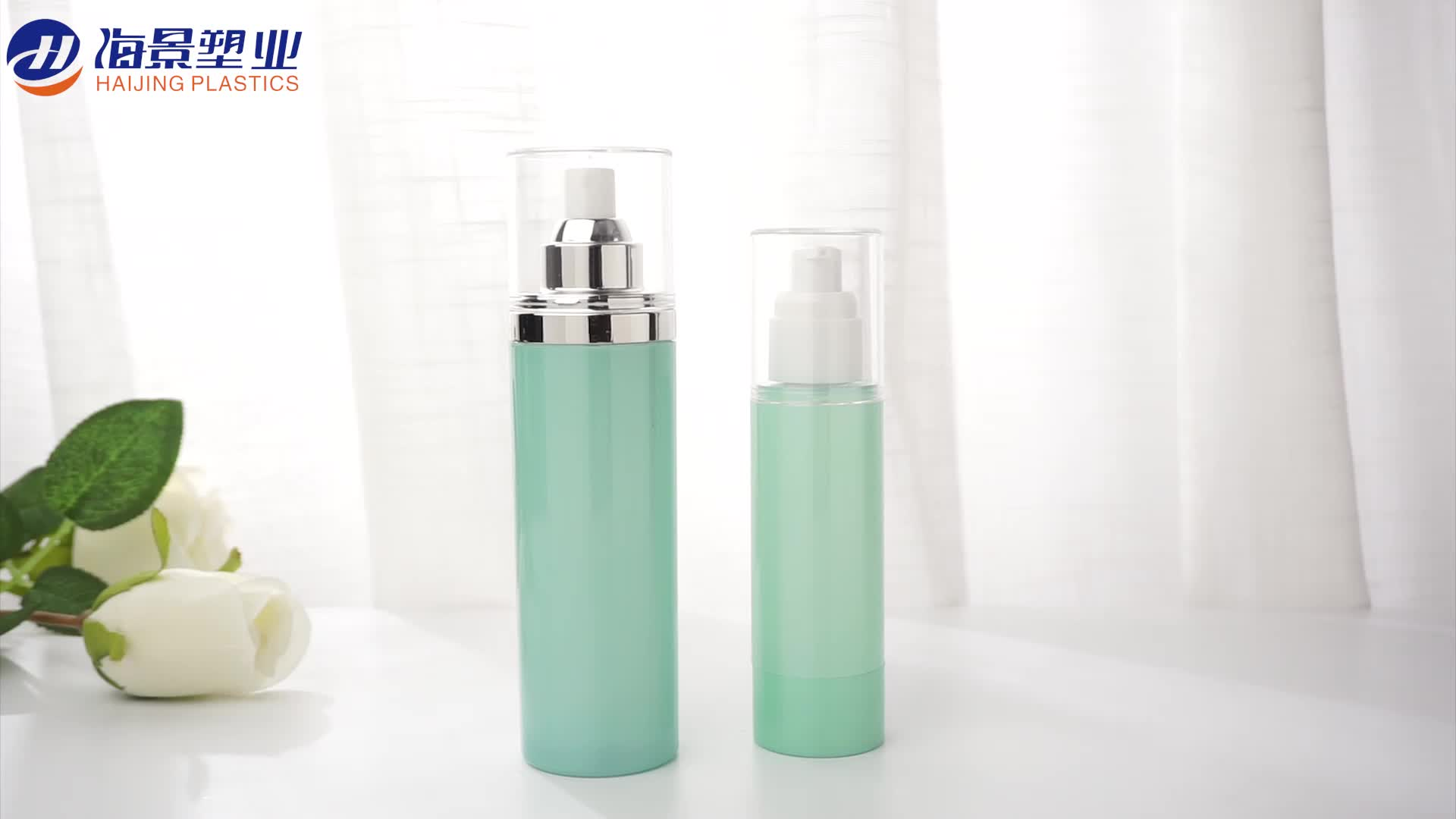 New design empty clear plastic AS 150ml cosmetic spray pump bottle for lotion