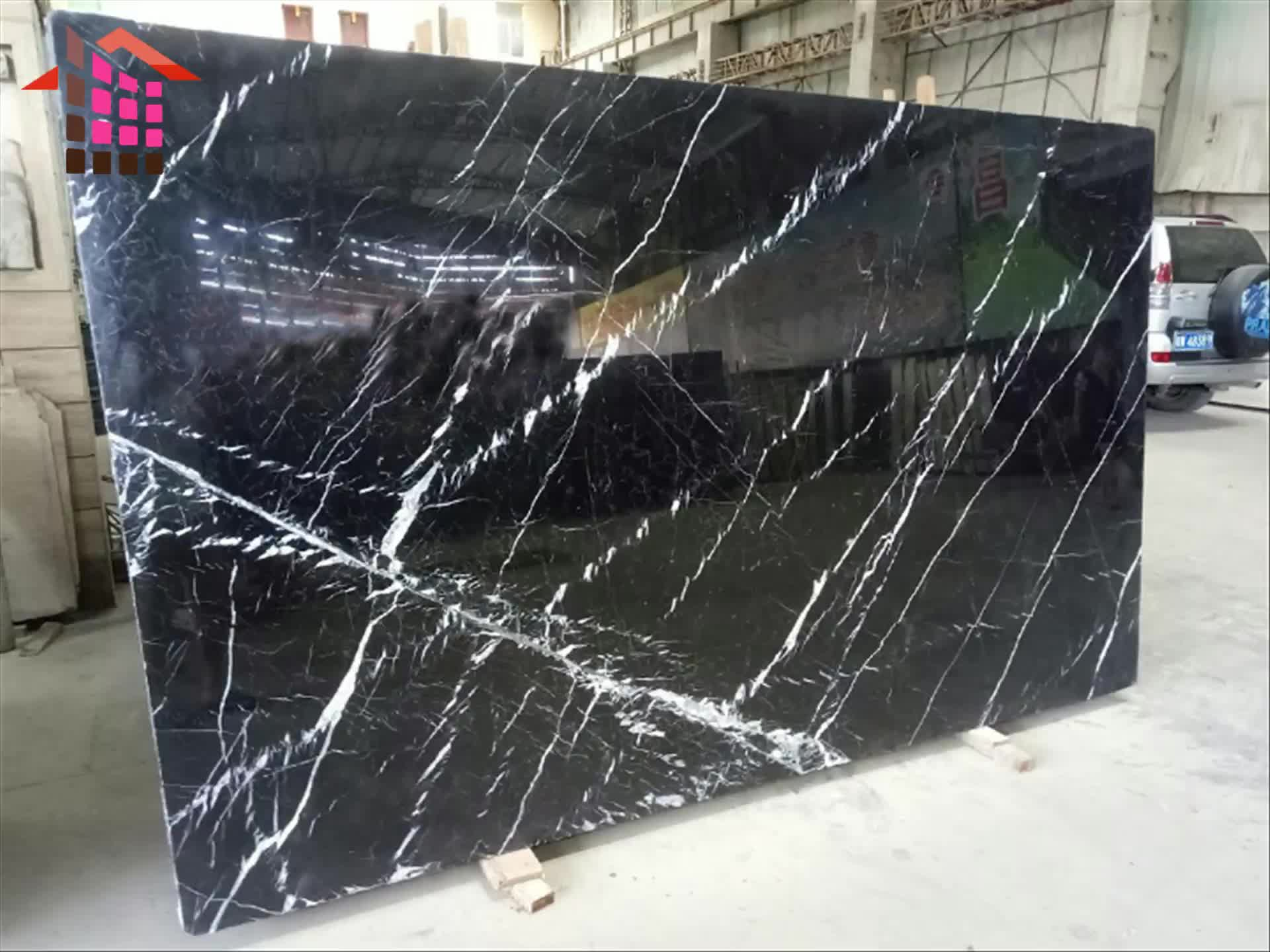 China black marble floor tiles and nero marquina