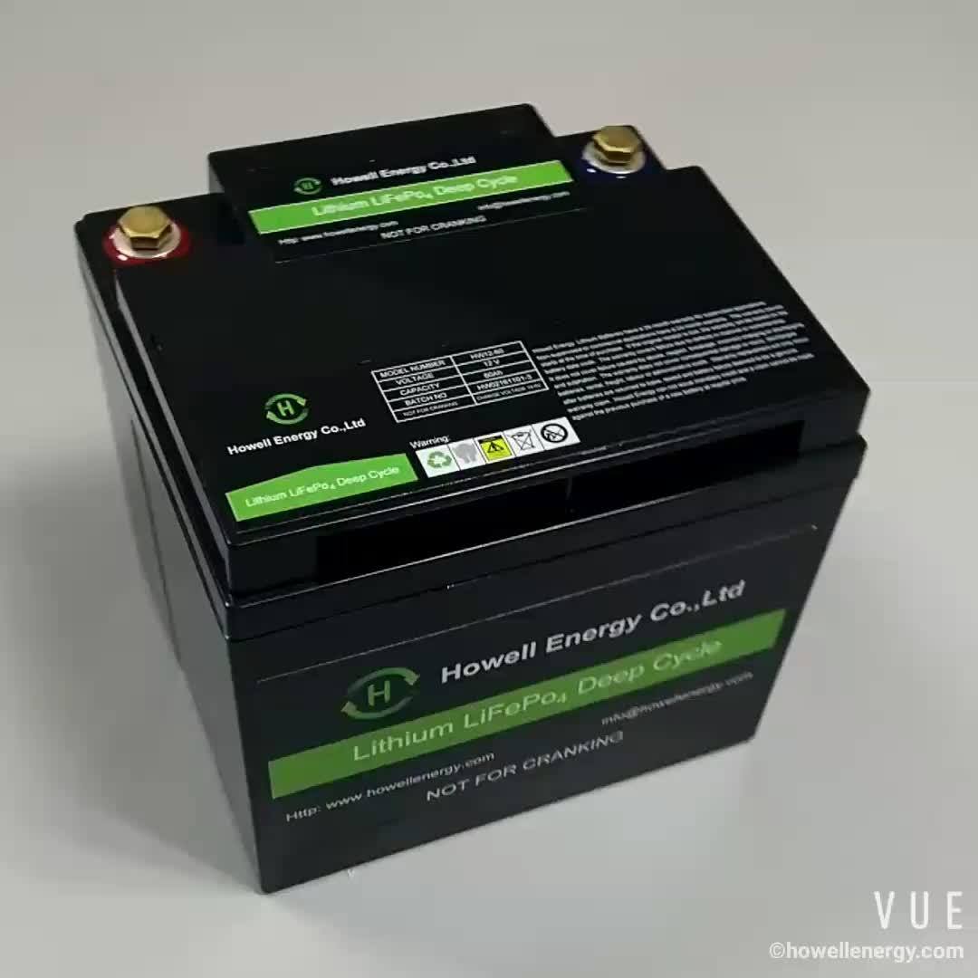 Howell good quality lithium battery 12v 100ah lifepo4 battery pack solar battery 12v 100ah