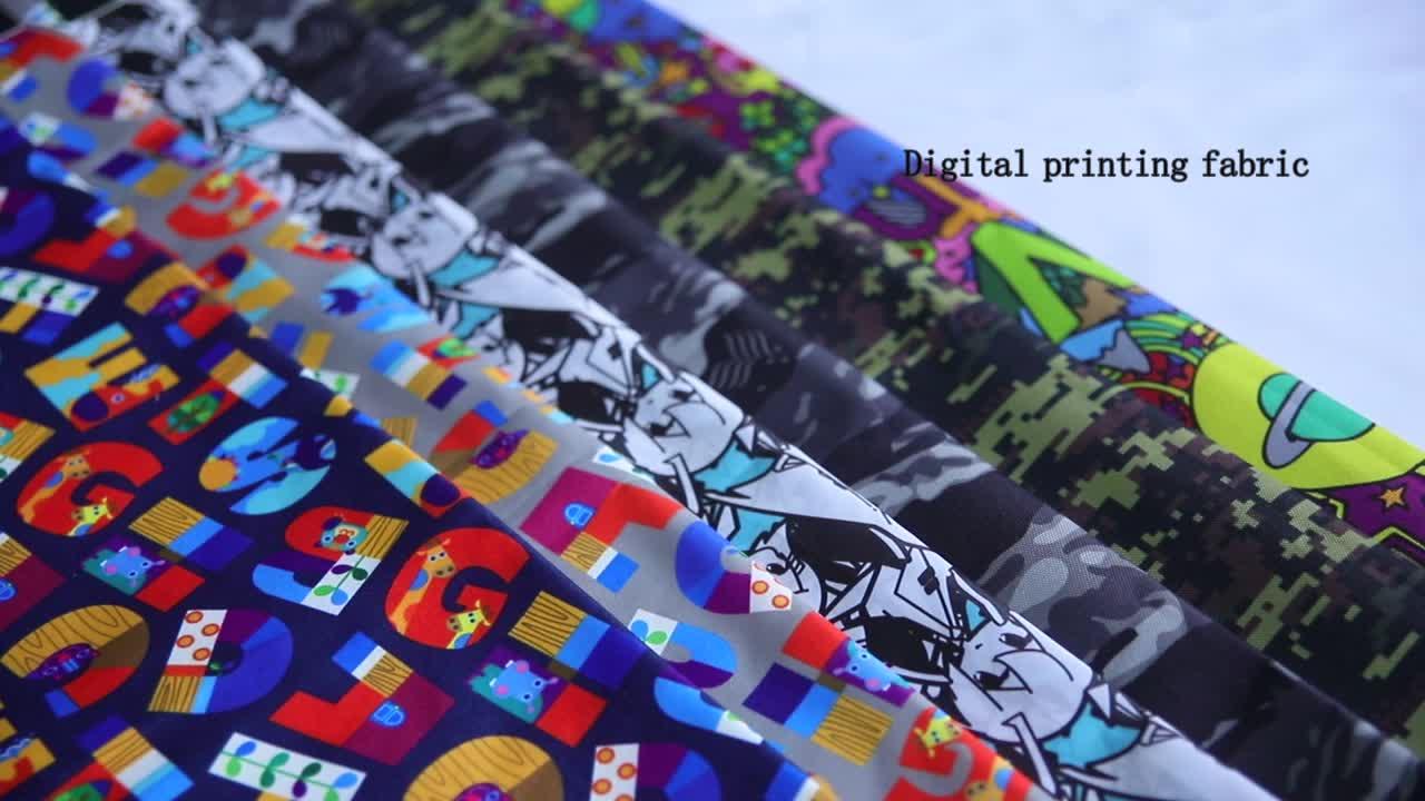 KEINE MOQ OEM akzeptiert drucken service digitaldruck polyester stoff