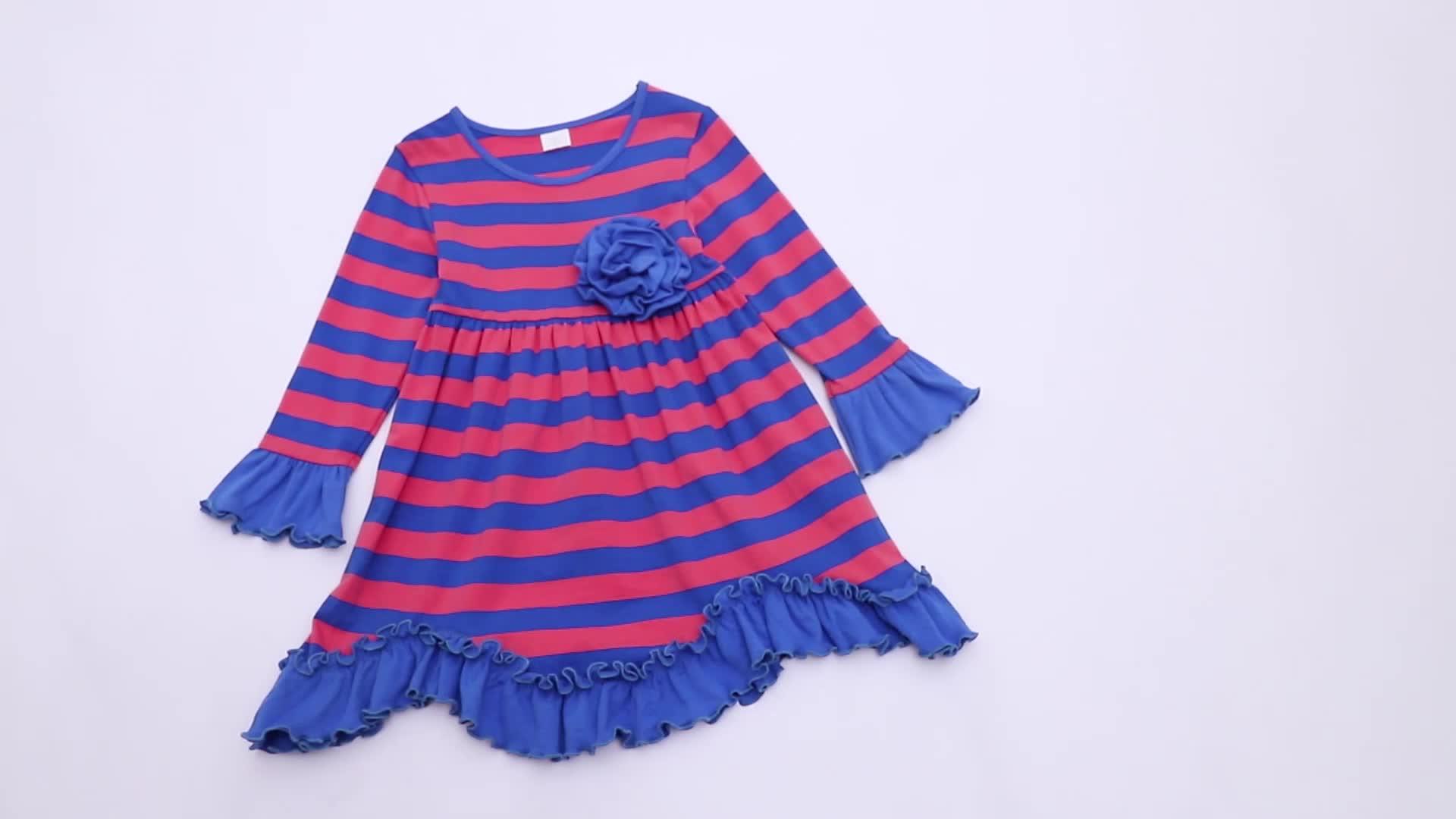 Groothandel ruche lente boutique jurken meisjes leeg jurken voor kids baby meisje jurken kinderen