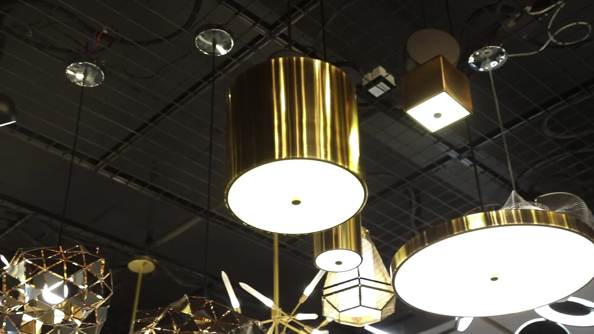 New design modern dining lighting cylinder square 6w led pendant light hanging chandelier lamp