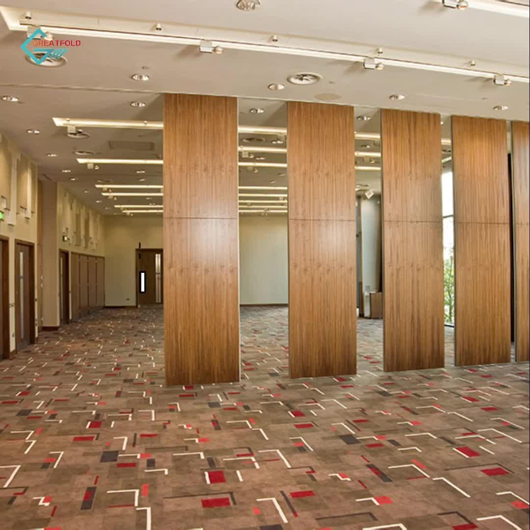 Patrón de diseño cafe restaurante operable pared de partición de Interior corredera de móvil de partición móvil insonorizadas paredes Hotel