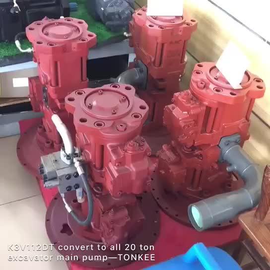 KAWASAKI K3V112DT hydraulic pump convert to E320B E322B A8VO107 main pump
