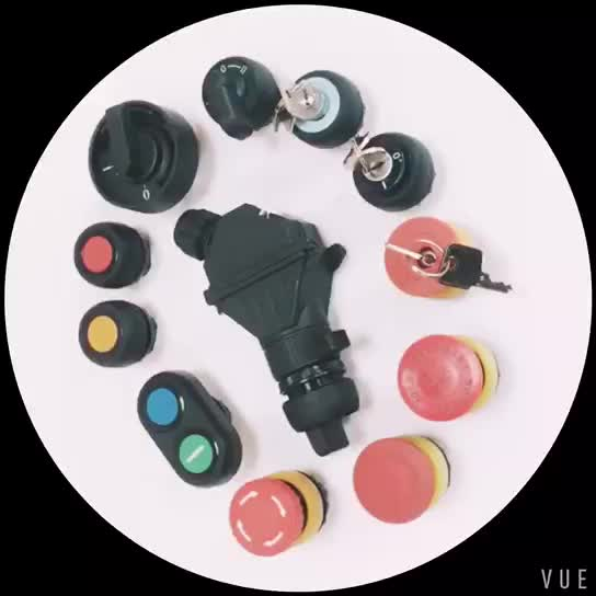 IP66 explosion proof surface type components with 2 buttons