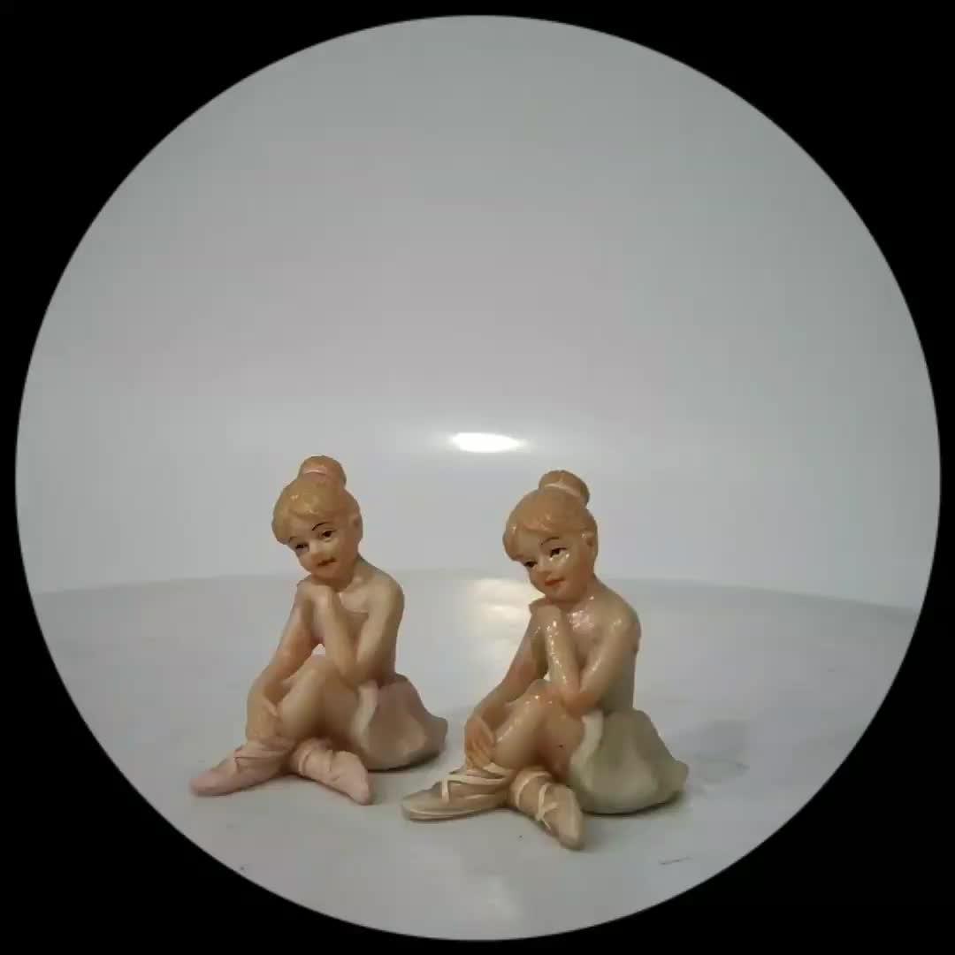 Hars Ballet Danser Meisje Sculptuur Miniatuur Beeldjes Engelen Fairy Cijfers Bureau Ornamenten ballerina beeldje Ambachten