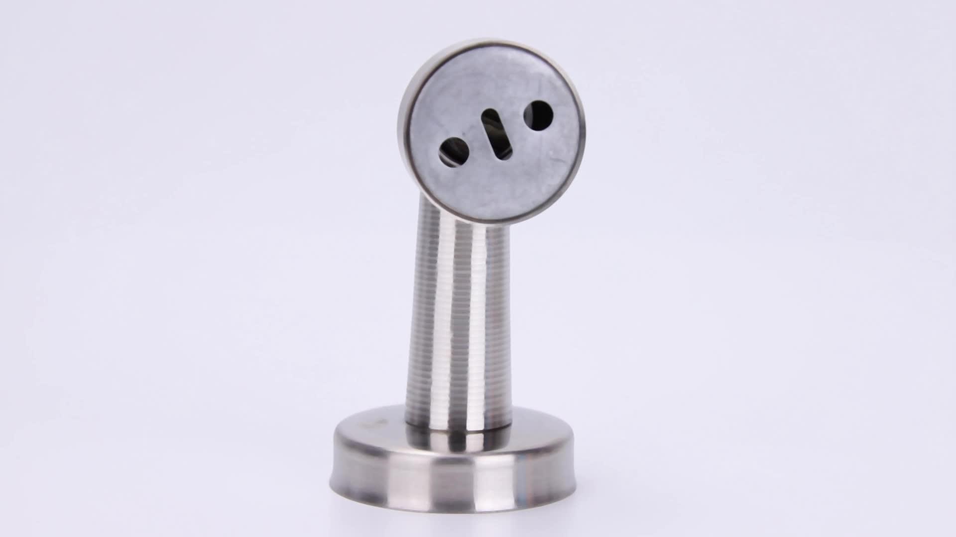 Stainless steel door stopper glass magnetic door catch