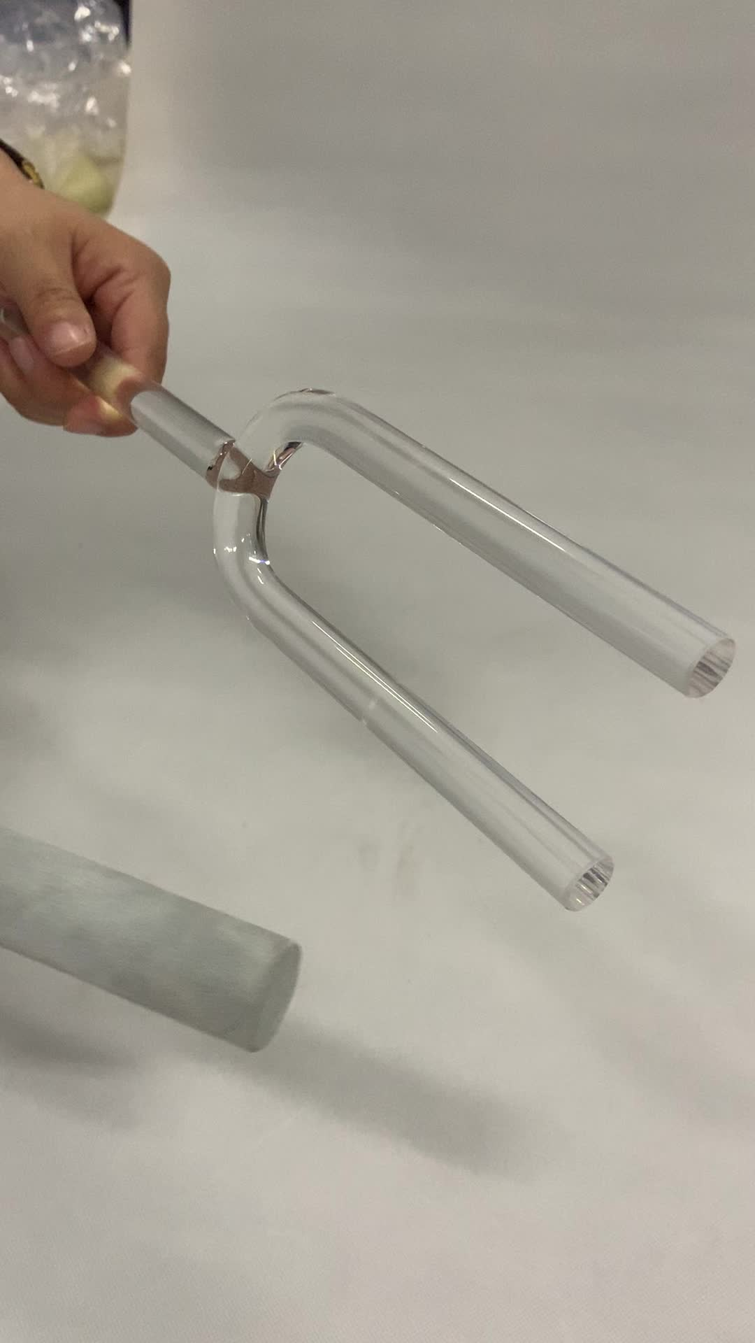 High purity Chakra Quartz Crystal tuning fork