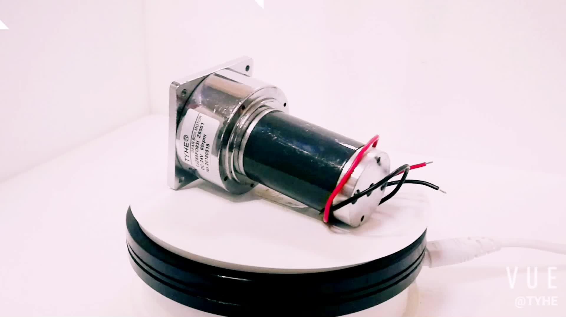 REVERSIBLE 60 มม.เส้นผ่าศูนย์กลาง 12 V 18 V 24 V 30 วัตต์แปรง DC มอเตอร์เกียร์โลหะสำหรับเจาะส่งออกในเซินเจิ้น