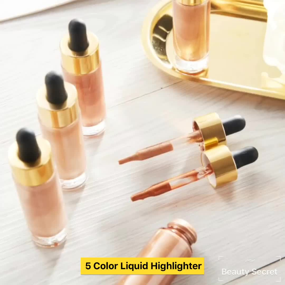 High quality shimmer liquid highlighter makeup private label