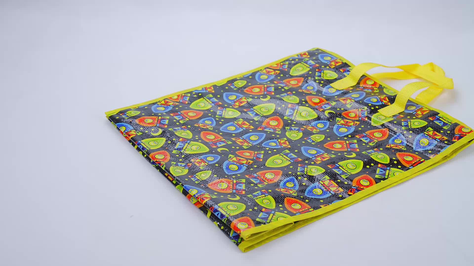 High quality promotional laminated pp woven foldable reusable shopping bags