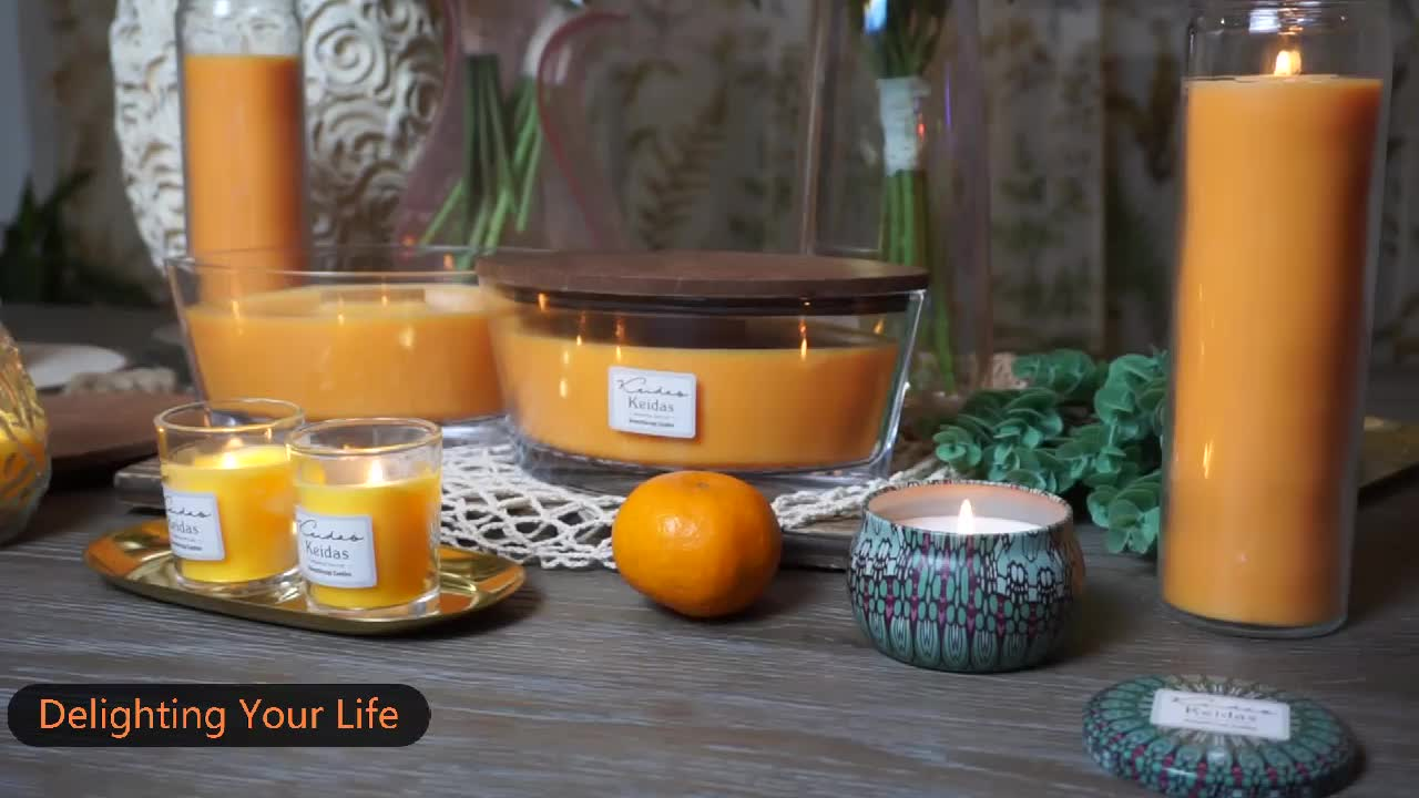 Large Rectangle WoodWick Candles With Lids Aromatic Candles For Hotels&Bar Accessories