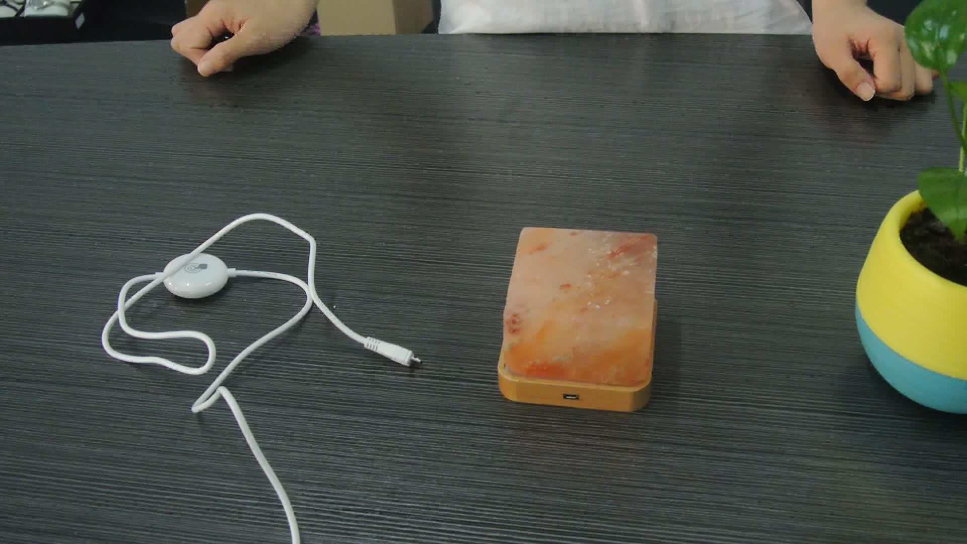 Nieuwe ontwerp decoratie USB 100% natuurlijke himalaya steenzout lamp