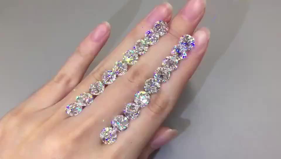 Commercio all'ingrosso di alta qualità 6.5 millimetri 1 carat sintetico Bianco Diamante Rotondo Cut Loose Moissanite prezzo per carato