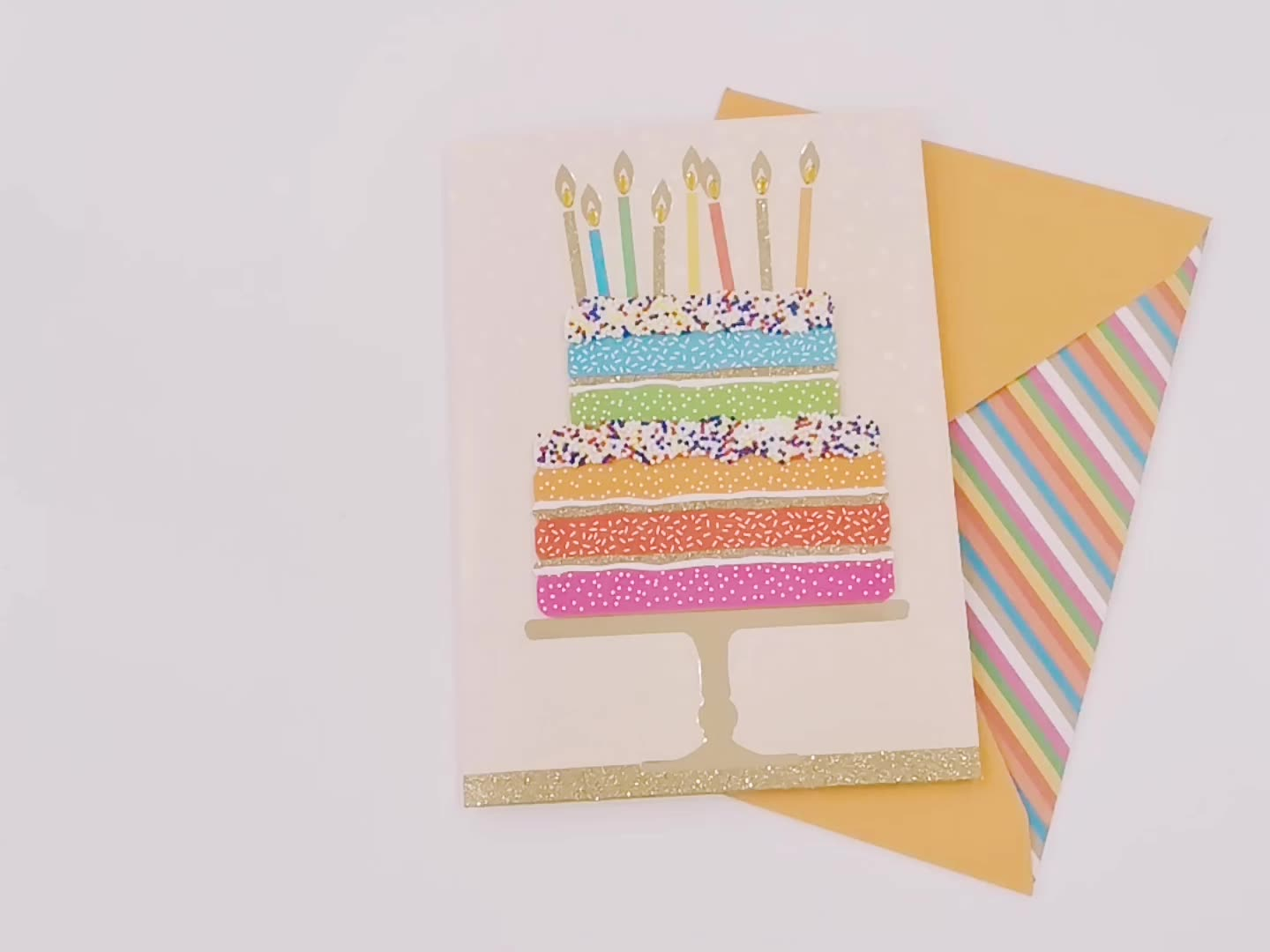 Custom Hot Foil Handmade Happy Birthday Greeting Card
