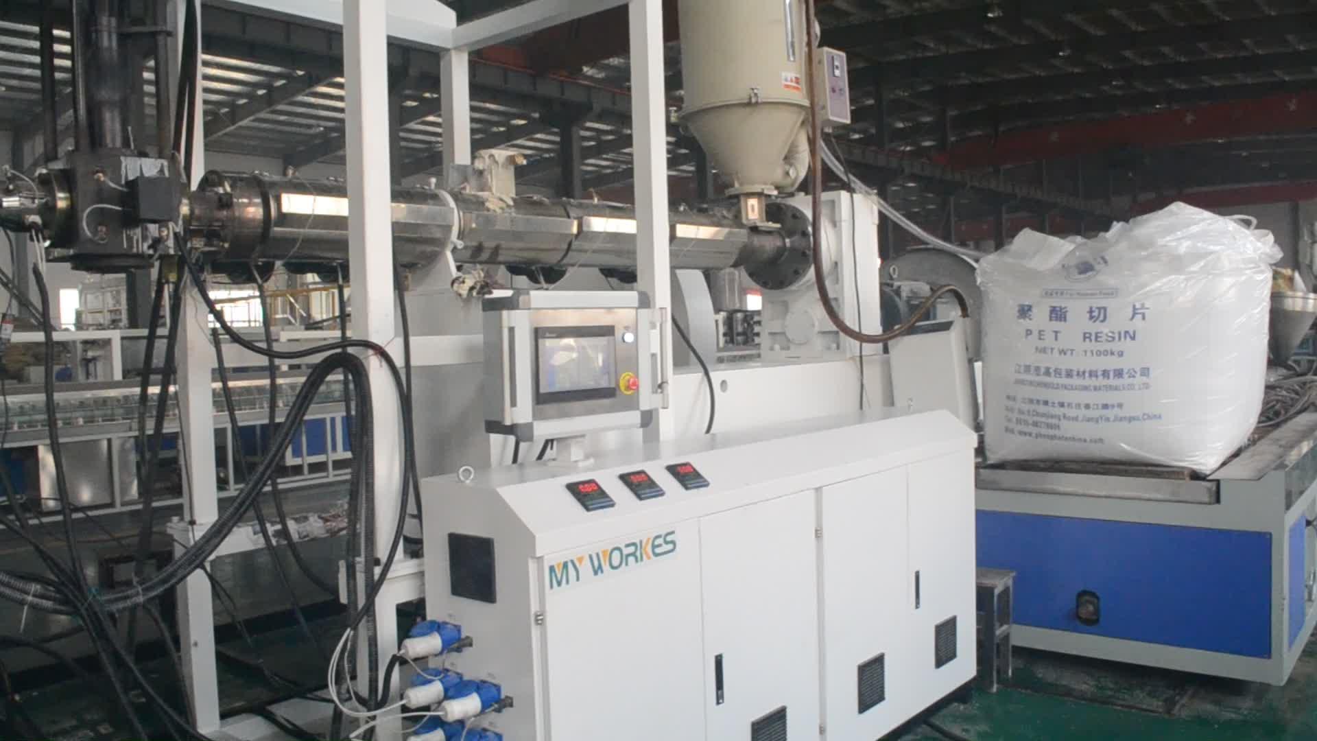 Pet kunststoff blatt produkt extrusion linie für thermo