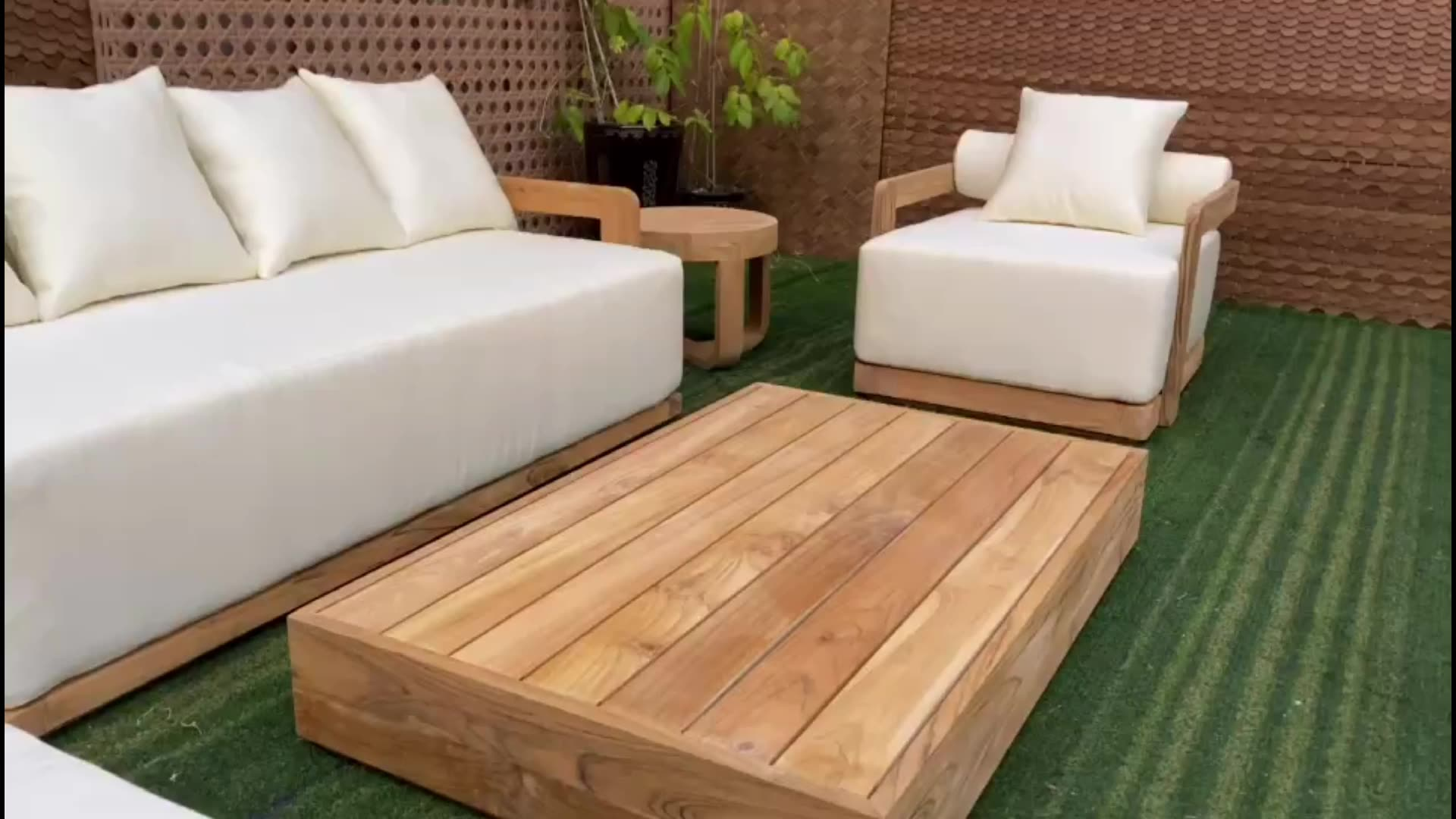 Hotel pool outdoor patio garden sets teak ottoman furniture