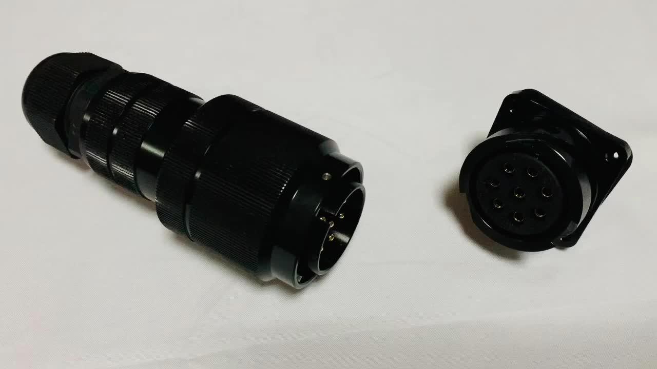 MS3106A Schwarz männlichen gerade stecker 128 pin cadmium überzog stecker für militärische
