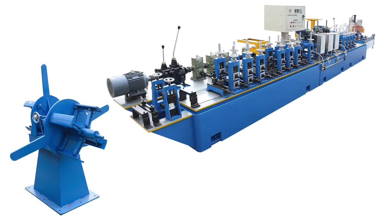 Foshan CS/Carbon/Stainless Steel/Iron Welded Round Tube Pipe Production Line