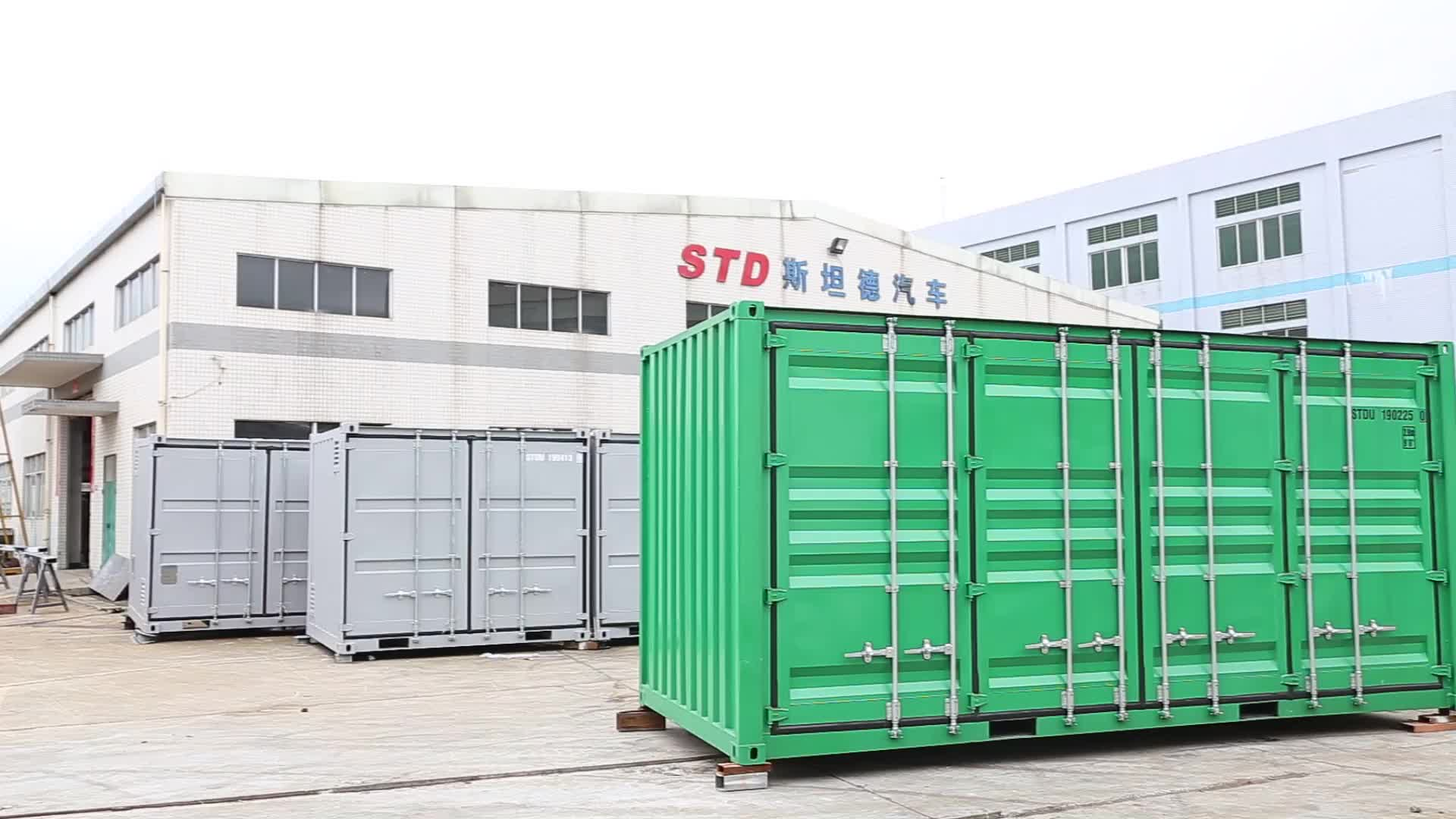 China supplier 20 feet open side shipping container for sale