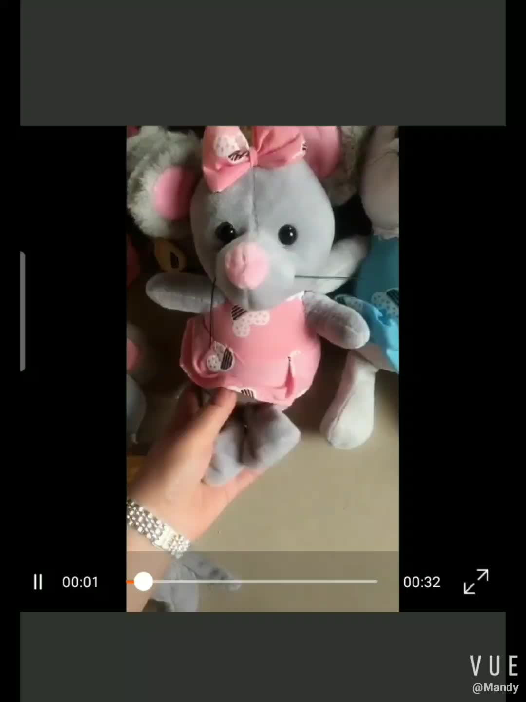 Mouse mascot of the year 2020  doll display company activity game gift cloth art mouse plush toys