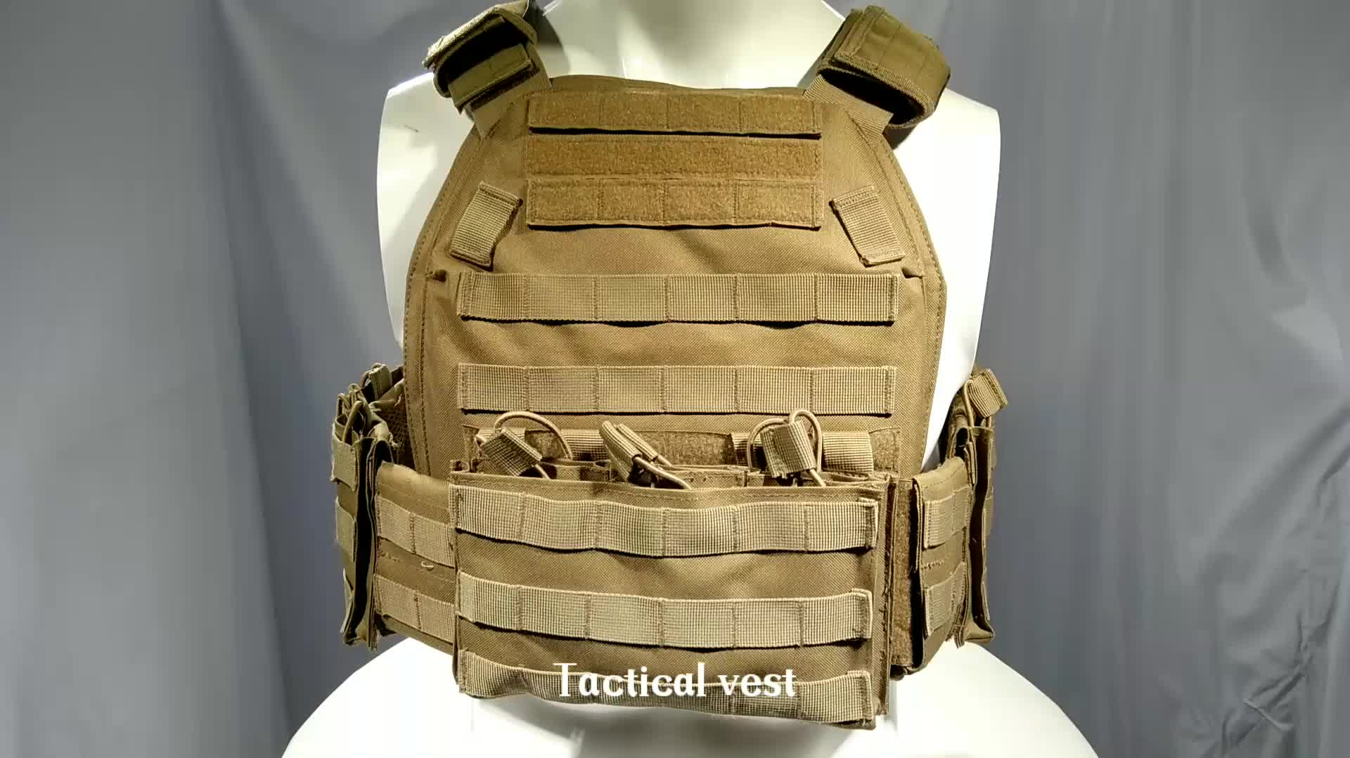Tactical Gear Molle Webbing Vest Bullet proof Plate Carrier Fit Rifle Mag Pouch for Paintball Airsoft
