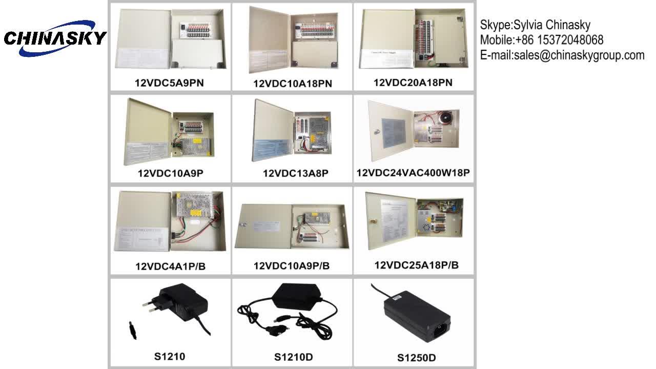 12 V 18 Channel 중앙에서 조정 된 CCTV 감시 보안 카메라 Power Supply